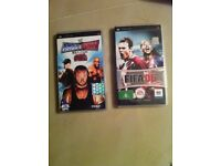 2 PSP games FIFA 06 smack down vs.row 2008