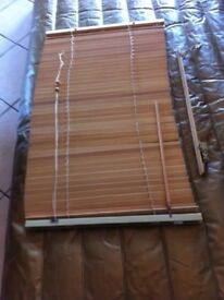 Wooden Slat Blind 64cms W x 100cms H NEW