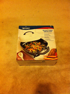 """Rival 12""""x12"""" Electric Skillet Never used"""