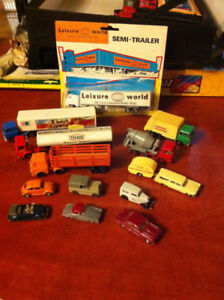 Assortment of Vintage HO Scale Vehicles