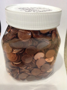 Pennies, Canadian 1 Cent Coins, 5 Lbs.