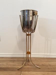 Vintage Ice Bucket - Seau à Glace sur Pied Vintage