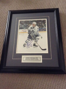 Toronto Maple Leafs Framed,  Autographed Steve Thomas Picture