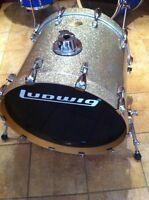 Aubaine bass drum 22x18 ludwig accent CS custom