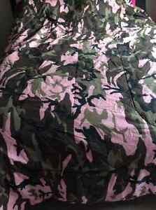 Girls army double comforter