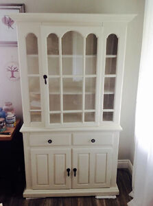 Solid Pine China Cabinet and Buffet