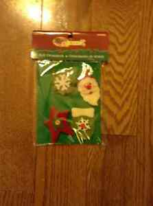 NEW IN PACKAGE FELT ORNAMENTS