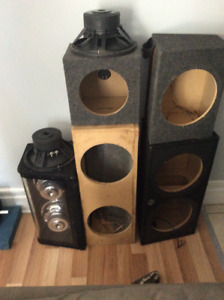Various speaker boxes $30 and up