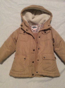 Size 5 Oshkosh girl's tan Winter coat