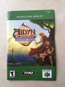Aidyn Chronicles - Instruction booklet