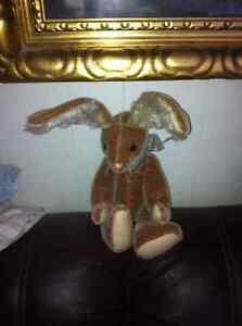 Jointed antique looking bunny