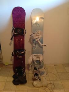 2 planches à neige