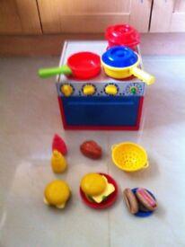 Kids plastic cooker saucepans &accesories