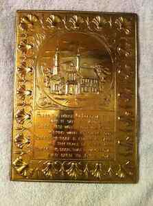 Vintage Bless This Home Copper Wall Plaque.