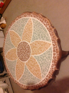 Crafted tile coffee table
