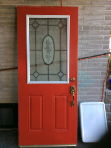 Front door with screen door