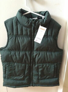 GYMBOREE FOREST GREEN VEST....BRAND NEW! Size 5/6