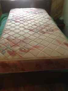 Mattress and box spring. Bed Frame.