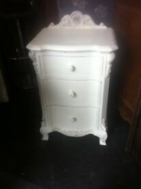 Ornate bedside drawers