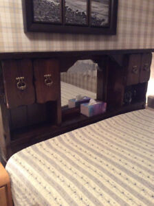 Solid pine queen bed (now reduced 25%@ 150.00)