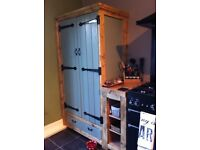 Farmhouse country kitchen larder pantry cupboard