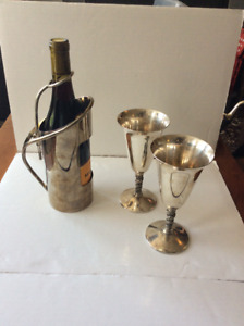 SILVERPLATED WINE 'SET' | 1960's Valero Wine Goblets | Wine Hold