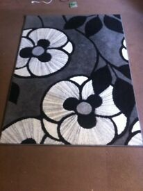 Black/grey rug