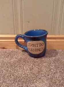 """I don't do mornings"" coffee mug Kitchener / Waterloo Kitchener Area image 1"