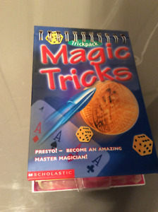 Summer fun for the kids. Magic tricks kit.