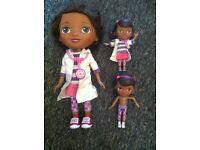 12inch talking doc mcstuffins and 2 5inch figures with glittery bag and scope (official Disney)