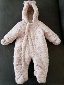 Mothercare baby snowsuit (3 to 6 months)