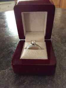 Diamond ring /engagement ring--14k white gold-make an offer