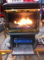 Propane freestanding stove. 6 months parts and labour warranty.