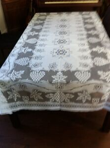 New large white lace tablecloth