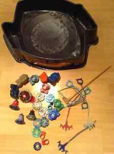 Beyblades and Beyblade arena