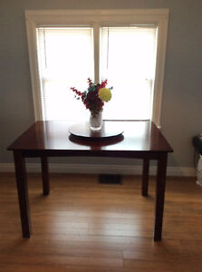 """""""Bar height"""" dining room table"""
