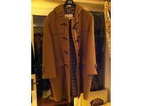 Pure Wool Olive Green Aquascutum Duffel Coat