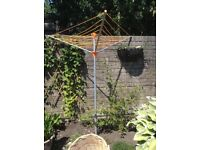 NEARLY NEW 3 ARM CLOTHES LINE with BASKET