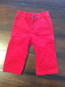 Red Baby Boy Cords by Janie & Jack (6-12 months)