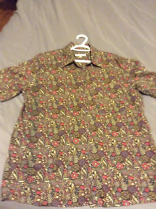 TILLEY  men's short sleeve button up..awesome pattern!