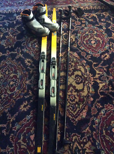 Rosignol Skate skis and boots -  complete package for sale