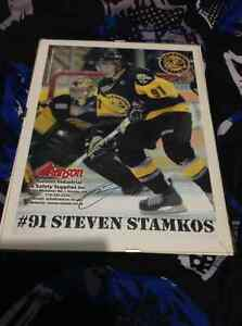 STEVEN STAMKOSsigned picture from when he played for sting