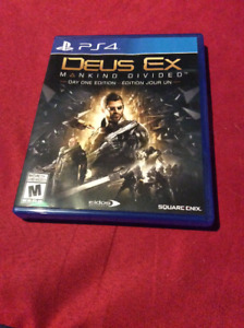Deus ex mankind divided ps4 like new
