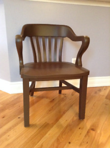 antique bankers chairsolid wood