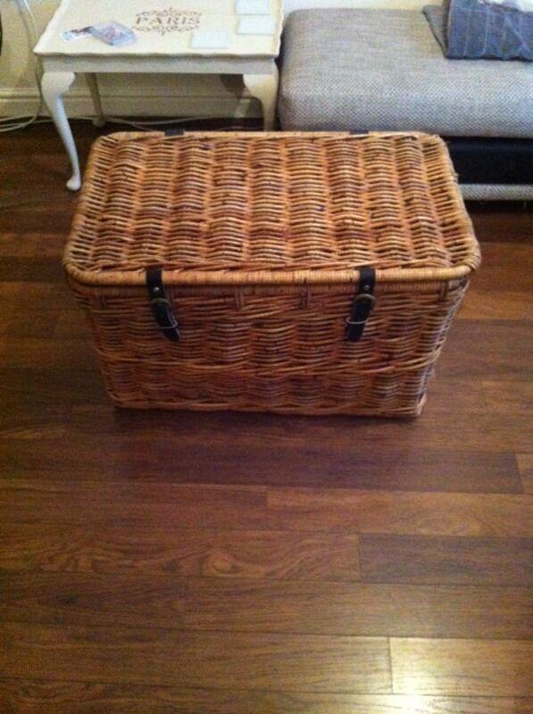 Ikea Bastant Wicker Basket Chest