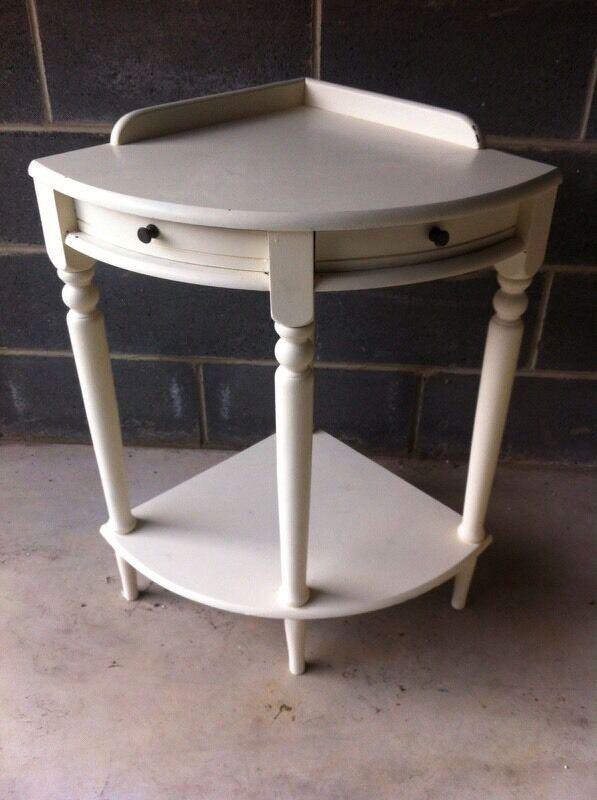 Cream Corner Telephone Table