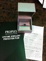 Emerald Cut Sapphire And Diamond Ring