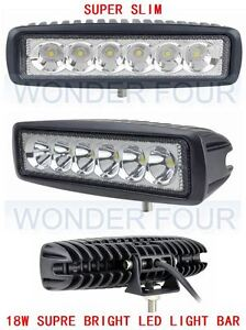 18W LED  LIGHT BAR SPOT/FLOOD LIGHT Work Light OFF ROAD 4WD BOAT UTE