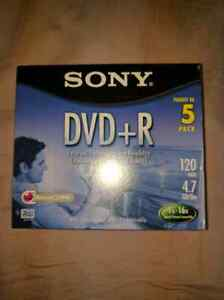 Sony recordable dvd+r 5 pack