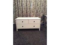 Solid wood white drawer set